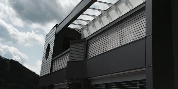 Glasverbau, metall, Überdachung, Graz Centrolux , Montage